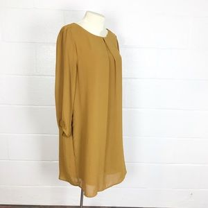 H&M dress Mustard Gold size 12 lined loose fit